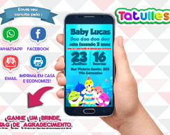 Convite Baby Shark Digital Para Whatsapp