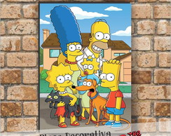 Placa decorativa - Os Simpsons