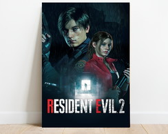 Placa Decorativa Resident Evil 2 Geek Game