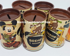 Cofrinhos tema mickey safari