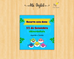 Save the Date Digital Baby Shark