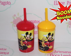 Mini Drink 260ml com Tampa e Canudo Mickey