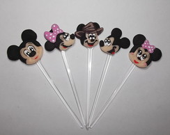 Toppers do Mickey/ Minnie/ Mickey Safari em Biscuit