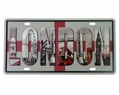 Placa de Metal London