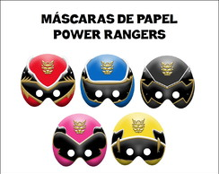 Máscaras Power Rangers