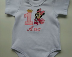Body mêsversario infantil- Minnie 2
