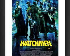 Quadro Watchmen Filme Herois Cinema HQ Gibi Decorar Sala TV