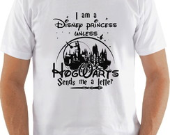 Camiseta Camisa Harry Potter I am a Disney...Hogwarts Sends.