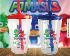 Copo twister personalizado PJ Masks - 500 ml