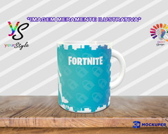 Caneca Game Fortnite Skin Silhueta