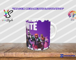 Caneca Game Fortnite Skins Épicas