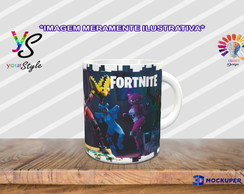 Caneca Game Fortnite Skins Personagens