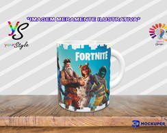 Caneca Game Fortnite Skins