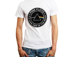 Camiseta Camisas Bandas Rock - Pink Floyd - The dark side
