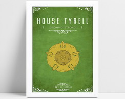 Quadro com moldura game of thrones tyrell heróis