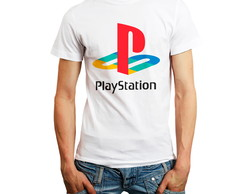 Camiseta Playstation 1 Logo Games Ps1 Camisa Personalizada