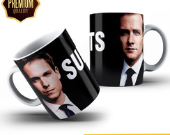 Caneca de Porcelana Suits