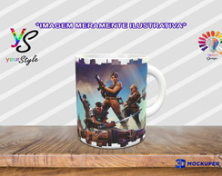 Caneca Game Fortnite Skins Jungle Scout
