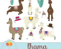 Clipart - Lhamas