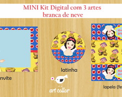 Mini kit festa digital branca de neve