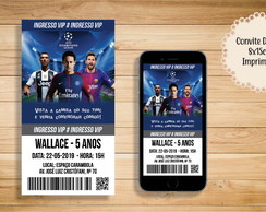 CONVITE DIGITAL CHAMPIONS LEAGUE INGRESSO NEYMAR