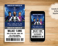 CONVITE DIGITAL CHAMPIONS LEAGUE INGRESSO CRISTIANO RONALDO