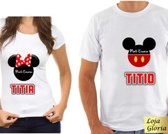 KIT CAMISETA ANIVERSARIO DA MINNIE C/2