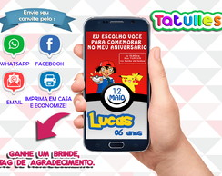Convite Pokemon Digital Para Whatsapp
