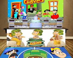 Painel + Saia +Tapete: tema Chaves