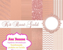 ROSE GOLD- KIT DIGITAL- PAPEIS