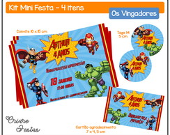 Kit Mini Festa - Vingadores