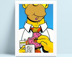 Quadro com moldura simpsons decor