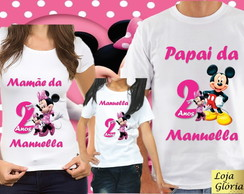 KIT CAMISETA ANIVERSARIO DA MINNIE C/5