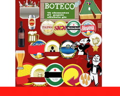 Scrapbook Digital Boteco Kit digital Buteco