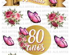 Topo De Bolo Flores E Borboletas No Elo7 Als Artes Ef8236