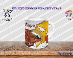Caneca Páscoa Chocolate Homer Simpsons Choco Bacon