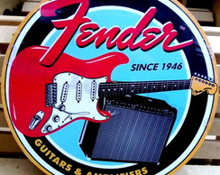 Placa Quadro Guitarra Fender Grande