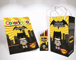 Kit de Colorir do Batman Baby Cute Lembrança + Brindes
