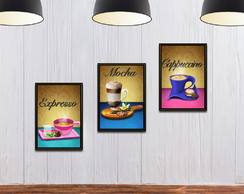 Kit Placa Decorativa Café em MDF