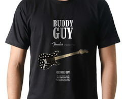 Camiseta Camisa Blues Buddy Guy Guitarra Fender Stratocaster