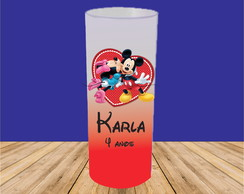 COPO LONG DRINK MICKEY E MINNIE JATEADO DEGRADÊ