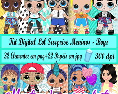 Kit Digital Lol Surprise Meninos - Boys