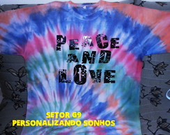 camiseta peace and love