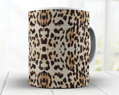 Caneca Animal Print Leopardo Fashion 829