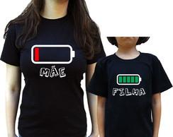 9e2c4a6759 Kit para Mãe - Camisetas Mãe e Filha Bateria Acabando