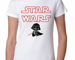 Camiseta Feminina Star Wars- Moda Geek