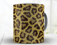 Caneca Animal Print Leopardo 1035