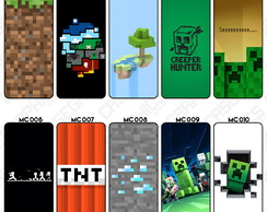 Capa Celular Minecraft Creeper Steve Blocos Grama TNT Game