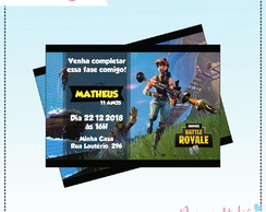 Convite Digital - Fortnite