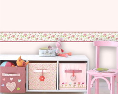 Kit 6 Faixas Decorativas Infantil Floral